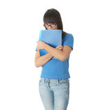 Teen student girl with note pad Royalty Free Stock Photo