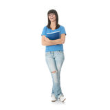 Teen student girl with note pad Royalty Free Stock Photos