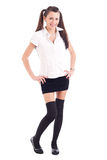 Teen student girl in uniform Royalty Free Stock Photo