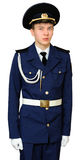 Teen student of military school Stock Images