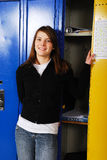 Teen Student at School Locker Stock Photography