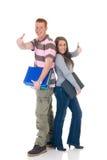 Teen students  high school love Stock Images