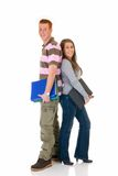 Teen students  high school love Royalty Free Stock Photo