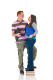 Teen students  high school love Royalty Free Stock Images