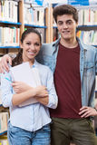 Teen students at the library Stock Images