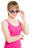 Teen in sunglasses Stock Photography