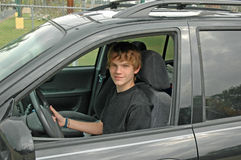 Teen SUV Driver Stock Images