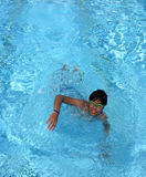 Teen swimming pool Royalty Free Stock Photo