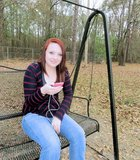 Teen Swinging Royalty Free Stock Images