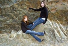 teen systrar Royaltyfria Foton