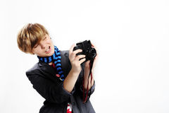 Teen taking photo Royalty Free Stock Photography