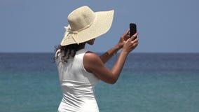Teen Taking Photos During Spring Break stock video footage
