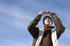 Teen taking picture. Stock Photography
