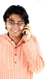 Teen Talking on Cellphone Stock Images