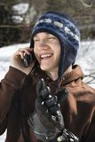 Teen talking on phone. Royalty Free Stock Images