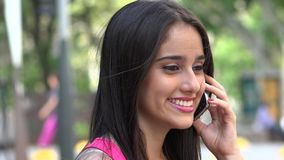 Teen Talking On Phone stock video footage