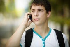 teen telefon Fotografering för Bildbyråer