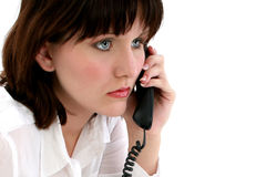 Teen on Telephone Stock Images