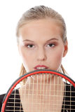 Teen tennis player Stock Images