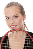 Teen tennis player Royalty Free Stock Photo
