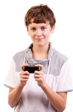 Teen texting Stock Images