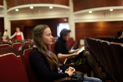 Teen at the theatre Stock Photos