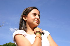 Teen thinking Royalty Free Stock Images