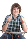 Teen thumbs up Stock Images