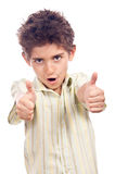 Teen with thumbs up Stock Photo