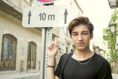 Teen tourist guy Stock Photography