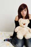 Teen with toy Royalty Free Stock Photography