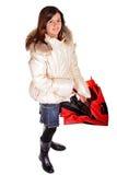 Teen with umbrella Royalty Free Stock Photos