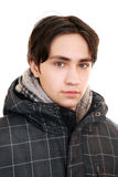 Teen in a warm jacket Royalty Free Stock Images