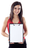 Teen whit clipboard Royalty Free Stock Photography