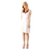 teen white för blond klänningflicka Royaltyfria Foton