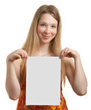 Teen with a white sheet Stock Photography