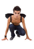 Teen with wings Stock Photo