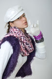 Teen in winter style Royalty Free Stock Images
