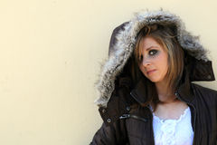Teen in winter wear  Royalty Free Stock Image