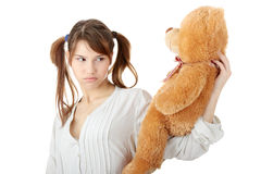 Free Teen With Teddy Bear Royalty Free Stock Photos - 11892788
