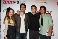 Teen Wolf Cast arriving at  the 9th Annual Teen Vogue Young Hollywood Party. LOS ANGELES - SEPT 23:  Teen Wolf Cast arriving at  the 9th Annual Teen Vogue Young Stock Photography