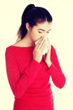 Teen woman with allergy or cold.  Stock Photos