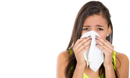 Teen woman with allergy or cold Royalty Free Stock Photo