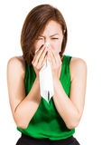 Teen woman with allergy or cold Stock Photos