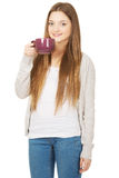 Teen woman with a cup of tea. Stock Photography
