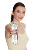 Teen woman drinking water Royalty Free Stock Photo