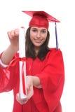 Teen Woman at Graduation Royalty Free Stock Photos