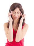 Teen woman with headache Royalty Free Stock Images