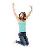 Teen woman jumping Stock Image
