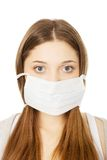 Teen woman with protective mask. Stock Photography